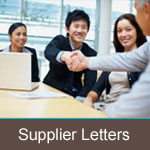 Supplier Letters
